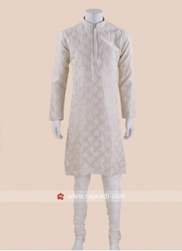 Cream Color Kurta Set