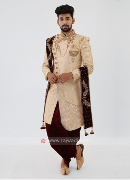 Cream Color Mens Indo-Western