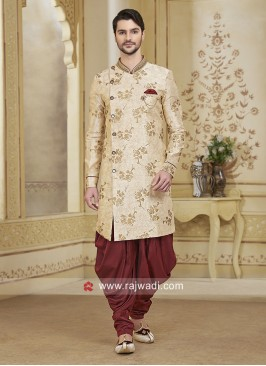 Cream Color Patiala Suit For Wedding