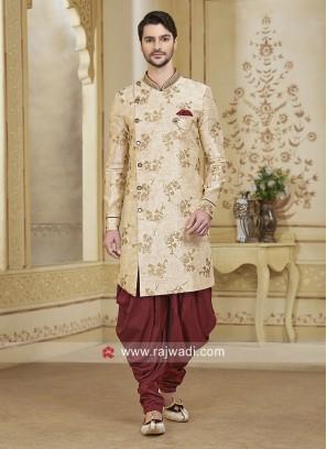 Cream Color Patiala Suit For Wedding
