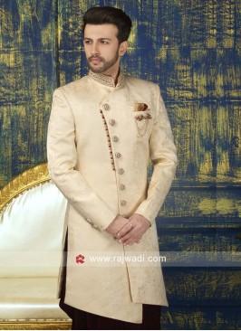 Cream Color Sherwani For Wedding