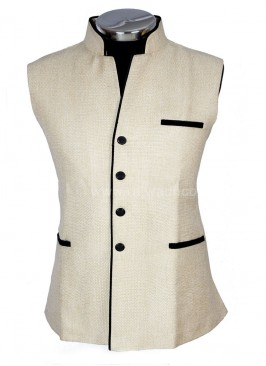 Cream coloured  Mens Party Wear Koti
