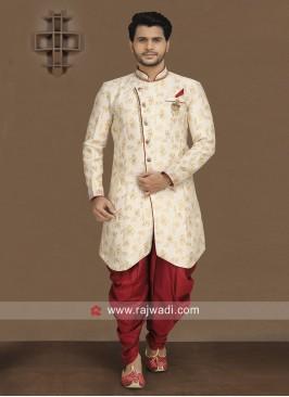 Cream Indo Western For Wedding