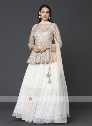 Cream Indowestern Choli Suit