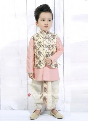 Cream Nehru Jacket For Boys