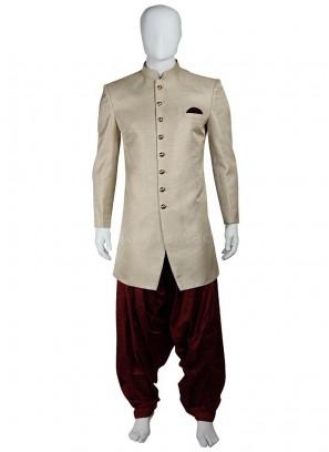 Cream Patiala Suit