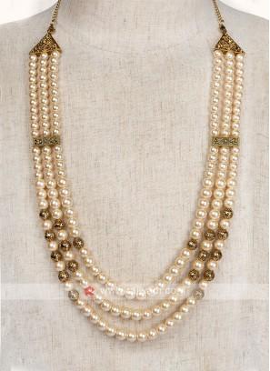 Cream Pearl Wedding Mala