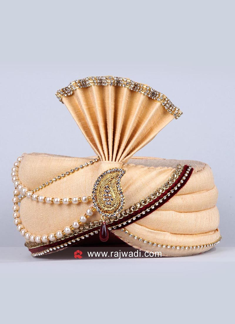 Cream Safa for Royal Wedding