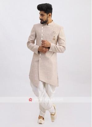 Cream Silk Indo Western