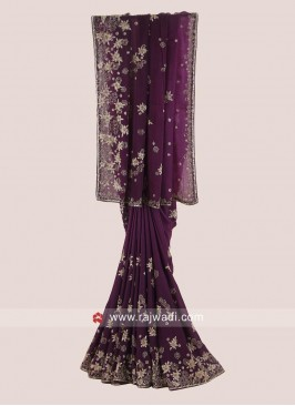 Crepe Chiffon Shaded Designer Saree