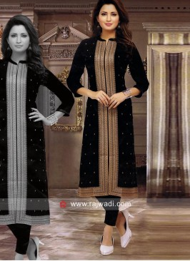 Crepe Designer Kurti with Slit Cut