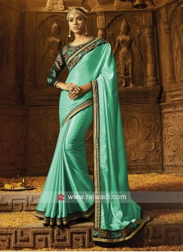 Crepe Saree with Embroidered Blouse