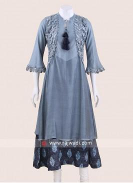 Crepe Silk Designer Kurti