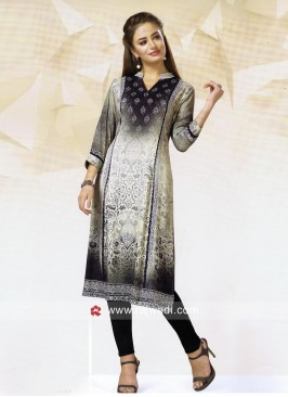 Crepe Silk Multi Printed Tunic