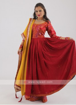 Crepe Silk Palazzo Suit With Dupatta