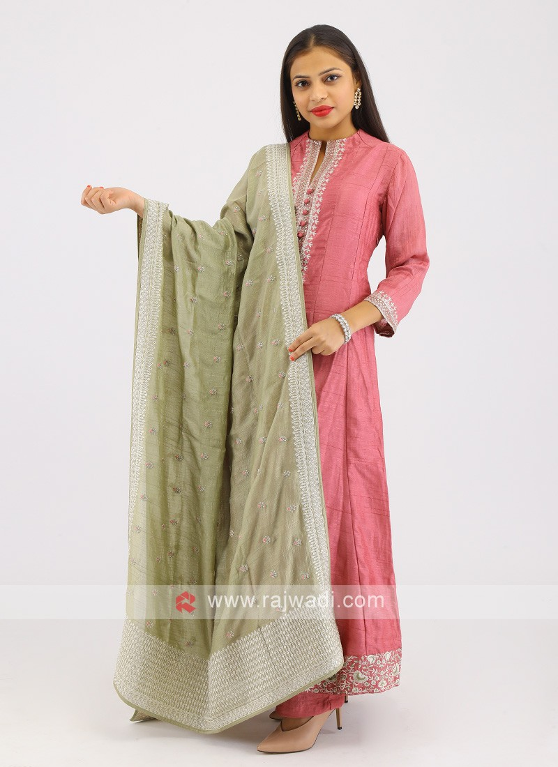 Crepe Silk Pant Style Suit