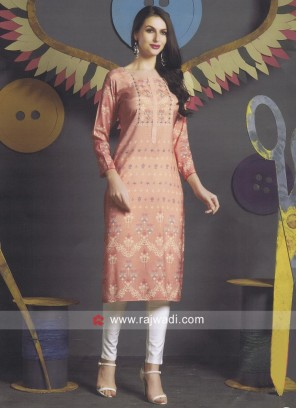 Crepe Silk Straight Fit Kurti