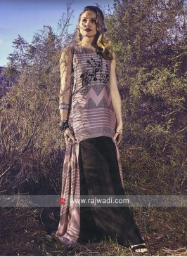 Crepe Silk Stylish Long Kurti