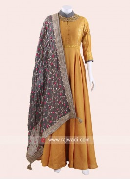 Crepe Silk Wedding Anarkali Suit