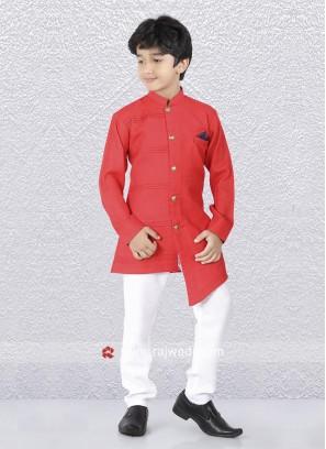 Crimson Color Indo Western For Kids