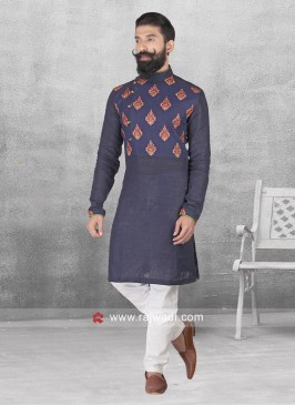 Navy Color Pathani Set