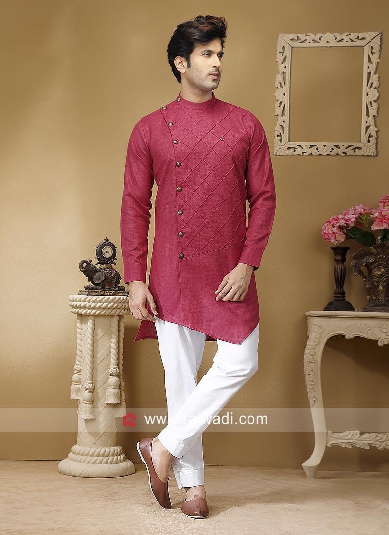 Crimson Color Pathani Set
