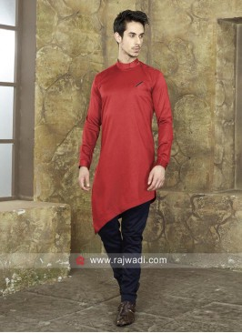 Crimson Color Pathani Set