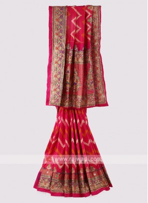 Crimson Color Silk Saree.