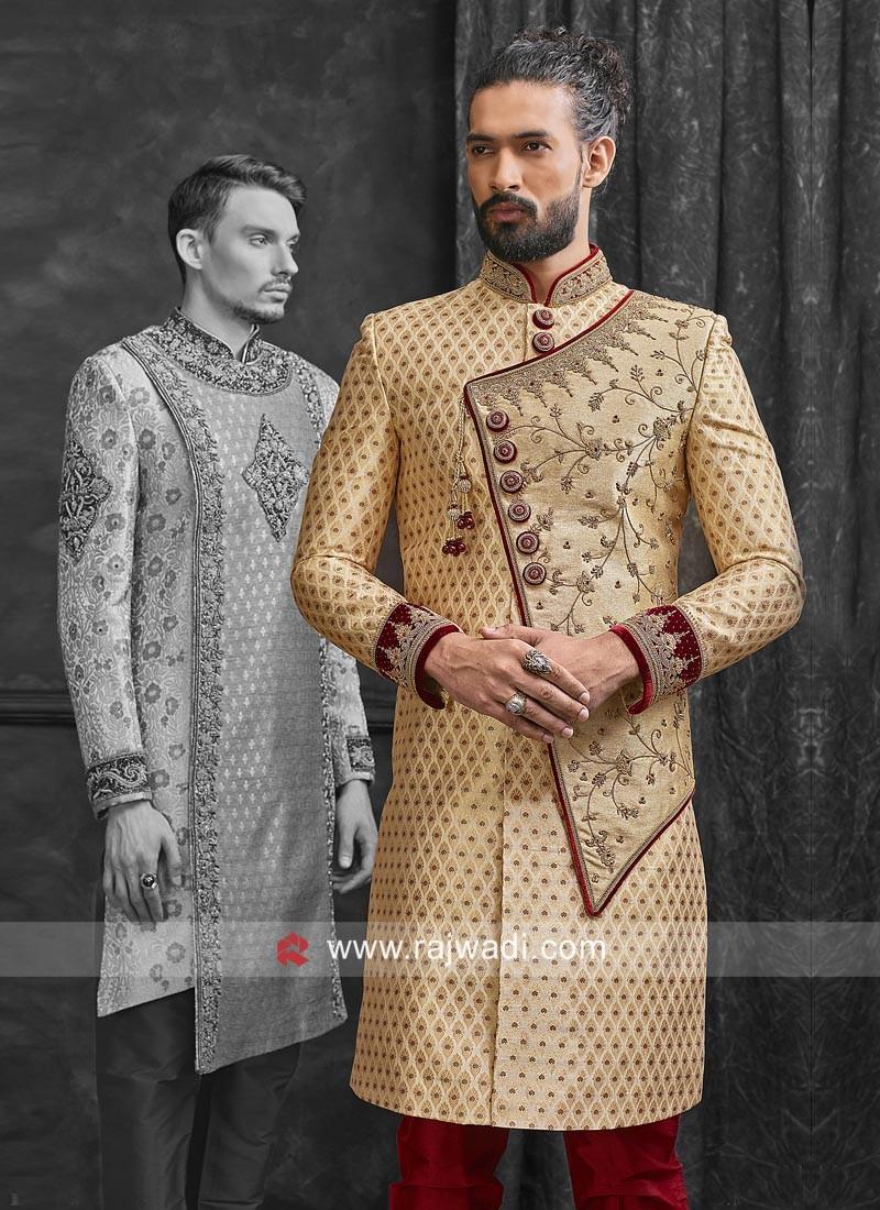 Brocade Silk Wedding Sherwani