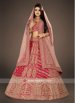 Crimson red bridal Lehenga Choli