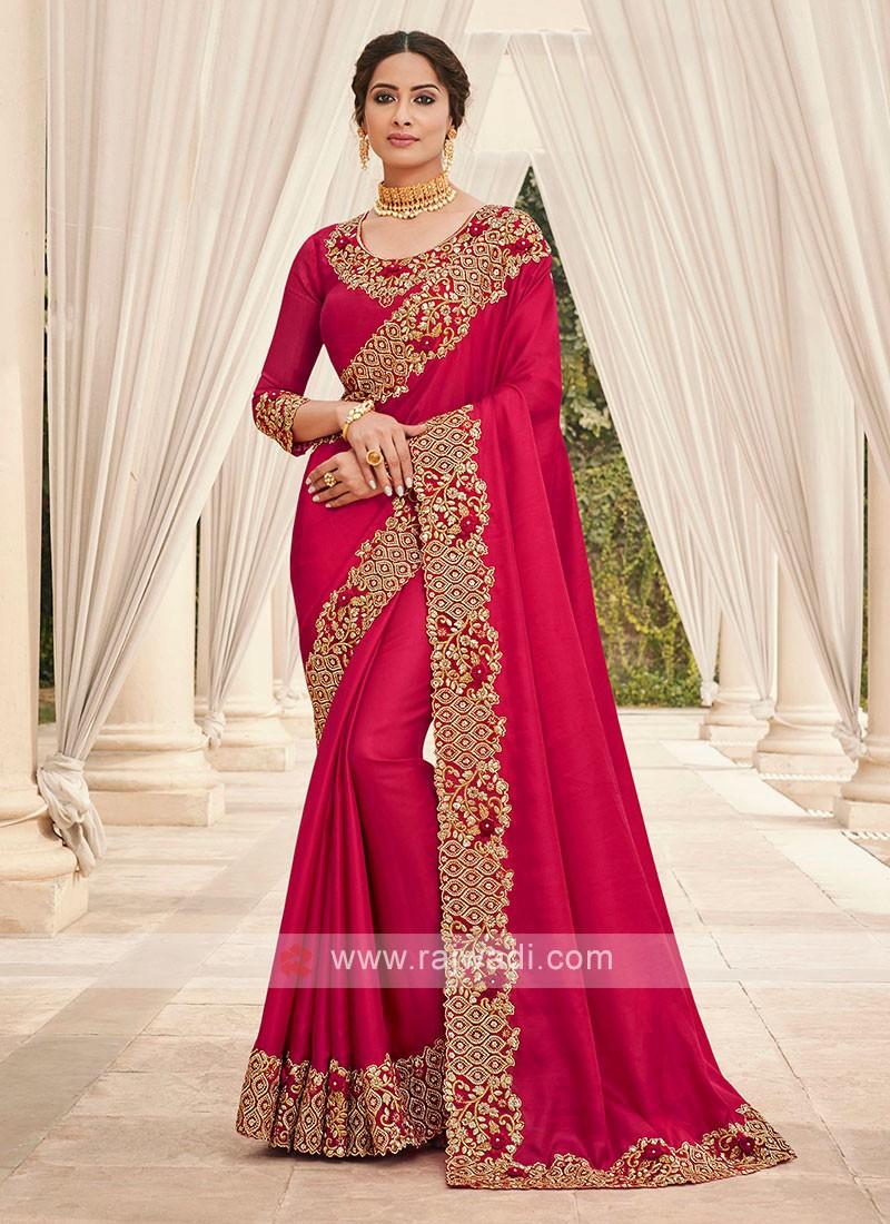 Crimson Red Cutwork Saree