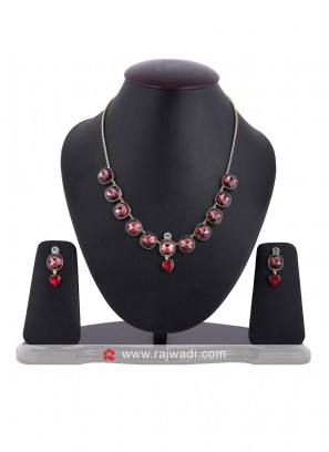Crystal Charmer Necklace Set with Earrings