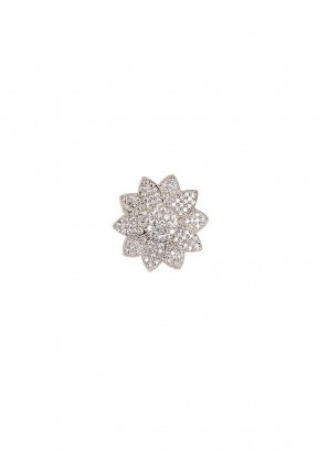 Cubic Zircon Flower Ring