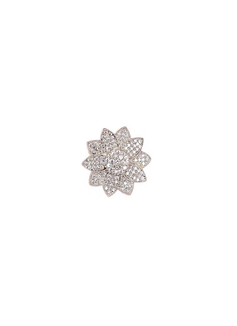 Cubic Zircon Flower Ring