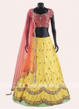 Cut Work Lehenga Choli with Dupatta