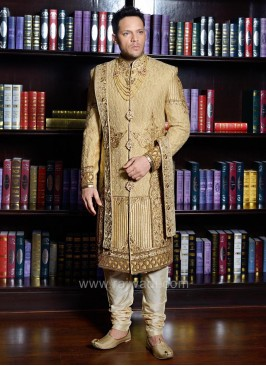 Cutdana and Stone Work Sherwani