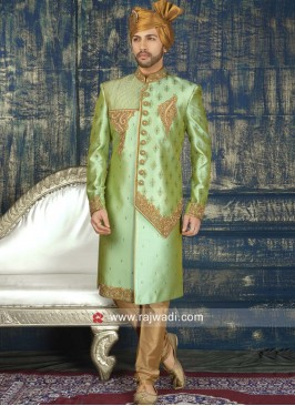 Cutdana and Zardozi Work Sherwani