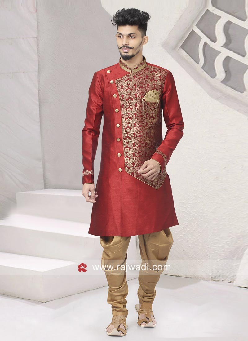 Red Indo Western For Party