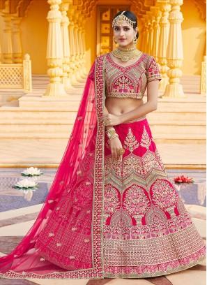Cute Pink A Line Lehenga Choli