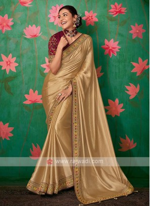 Dark Beige Color Saree