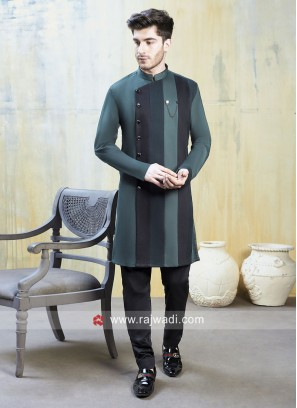 Green and Black Color Indo Western