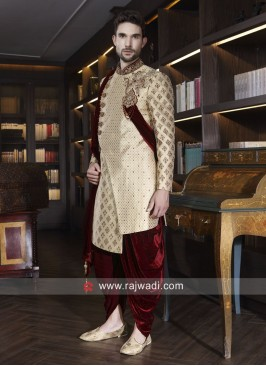 Groom Golden Sherwani