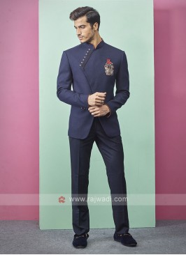 Dark Blue Color Jodhpuri Suit