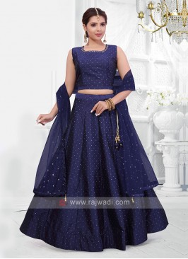 Dark blue color lehenga choli