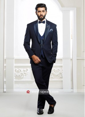 Dark Blue Imported Fabric Suit