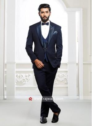 Dark Blue Imported Fabric Suit