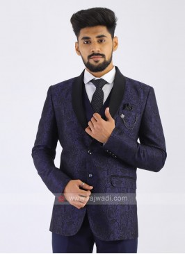 Dark Blue Imported Party Wear Suit