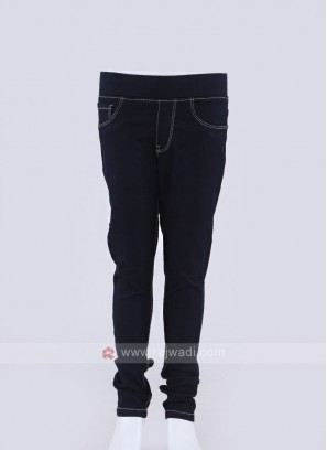 dark blue jeggings