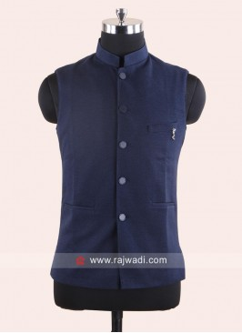 Dark Blue Koti For Wedding