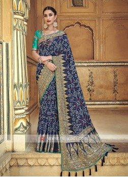 Dark Blue Traditional Saree